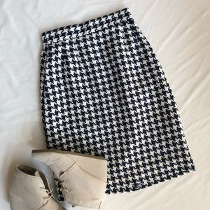 Nienam Marcus XS pencil skirt houndstooth